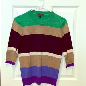 Women's Small J.Crew Sweater - Multi stripes